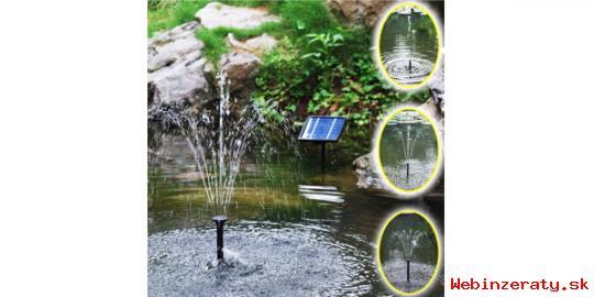 Nova solarna fontana do vasej zahrady