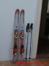 Detské lyže 100cm s viazaním a palicami