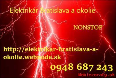 Elektrikár Bratislava a okolie-NONSTOP