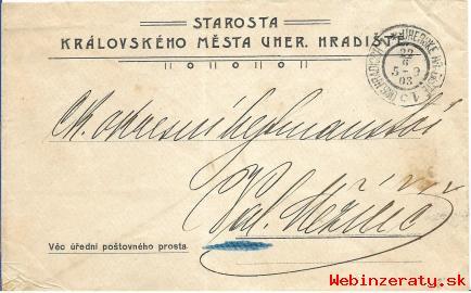 Obálka listu Uh. Hradiště z r. 1905