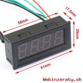 voltmeter teplomer hodiny v jednom