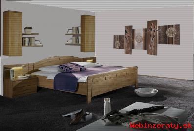 Spálňová zostava masív-posteľ 200x200 -