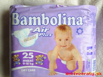 Predám plienky značky Bambolina  Air Plu