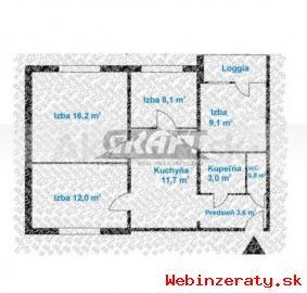 RK-GRAFT ponúka 4-izb.  byt Znievska ul.