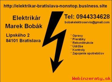 Elektrikári Bratislava + okolie NONSTOP