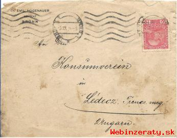 Obálka lisru Beno-Ladce z r. 1914