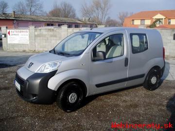 Peugeot Bipper, 1,4l, 54 kW prvý majiteľ