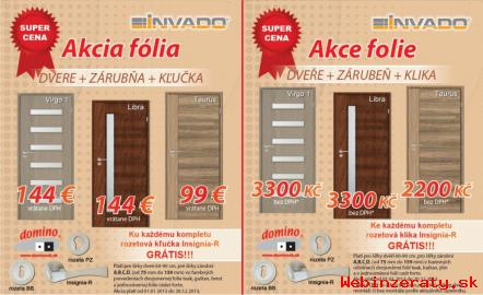 Interiérové dvere - predaj a montáž
