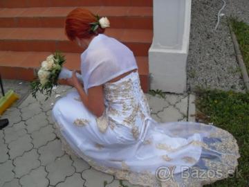 a9cc3519c3d5 Svadobné šaty biele s výšivkou