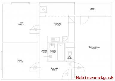 Predaj zrekonštruovaného 3-izbového bytu