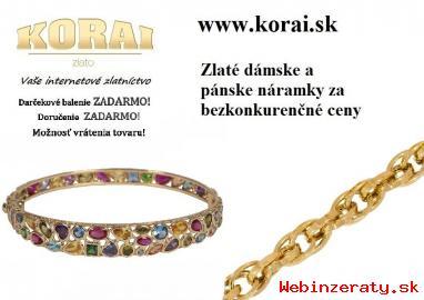 Náramky zo žltého zlata od KORAI