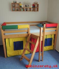 Detská posteľ a stena