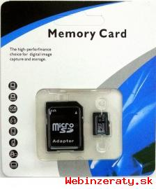 32 GB a 64 GB micro sd a 8 GB sd karty