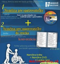 Nemčina pre opatrovateľky DVD a kniha s.