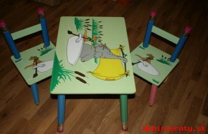 Stolík a 2 stoličky Tučniaky domček