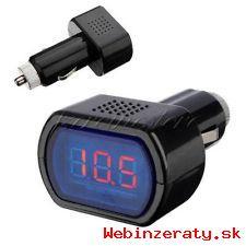 voltmeter na meranie stavu batérie