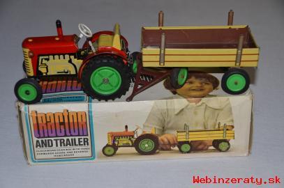 Predám KDN traktor s vlečkou a krabicou
