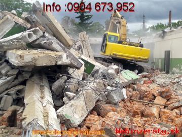 Búracie práce a odvoz odpadu,vypratávan