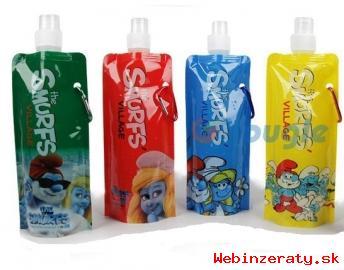 Detská fľaška šmolkovia !