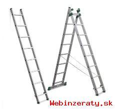 Rebrík hliníkový univerzálny 3x8