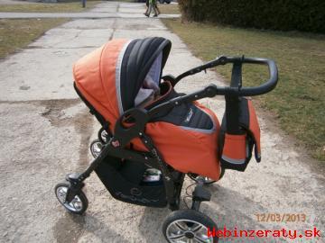 Oranžový 2-kombinovaný kočík Vector edre