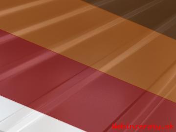 Farebný trapézový plech