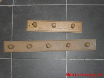 Drevené vešiaky – rovný:3 a 5-dielny