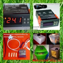 Digitalny termostat, LCD vlhkomer, teplo
