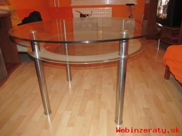 Predám sklenený stôl