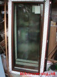 Nové dvojkrídlové hnedé plastové okno