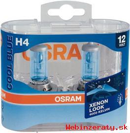 autožiarovky OSRAM H4 COOL BLUE