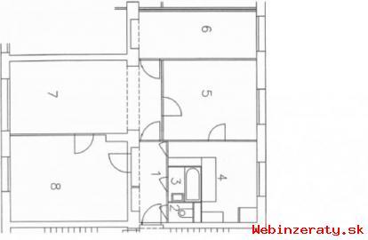 4-izbový byt, Haviarska ulica, 85m2