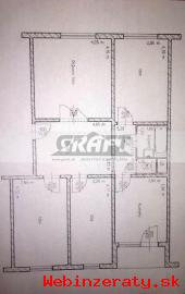RK-GRAFT ponúka 4-izb.  byt  Ševčenková