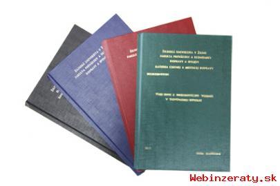 Viazanie diplomých a bakalárskych prác