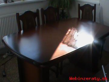 SURNE PREDAM - Jedalensky stol a 6 stoli