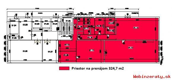 Prenajom prevadzkove priestory 325m2- BB