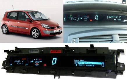 Renault scenic displej,prístrojová doska