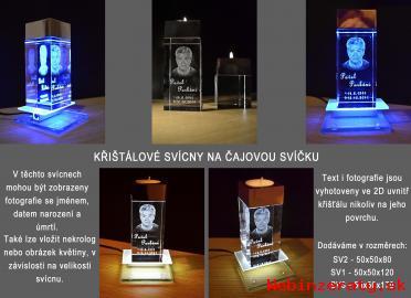 Foto 2D, 3D laser crystal, křištál, sklo