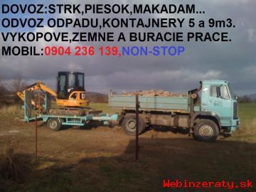 dovoz strk,piesok,makadam,Ba,0904236139