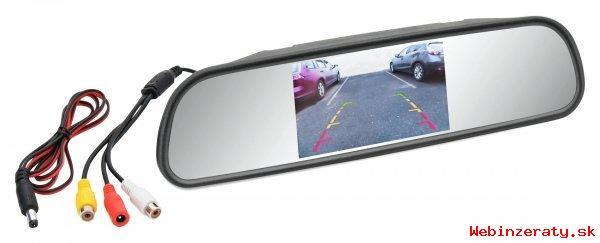 LCD displej v spätnom zrkadle