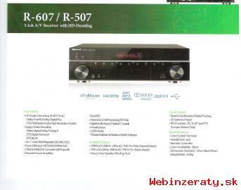 Predám novy 5. 1 AV receiver Sherwood R-