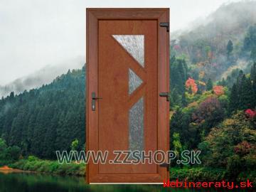 Vchodové plastové dvere plastové - lacno