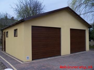 Montovaná garáž s omítkou