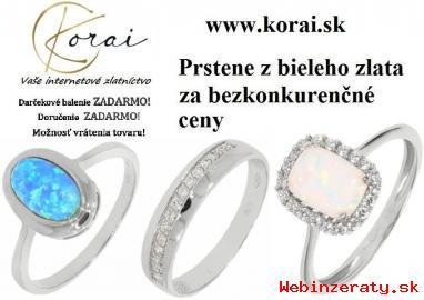 Prstene z bieleho zlata od KORAI