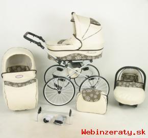 Kunert Romantický Luxusný Retro kočík