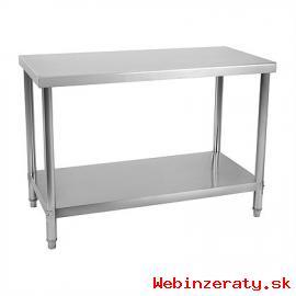 Pracovný stôl nerezový s policou