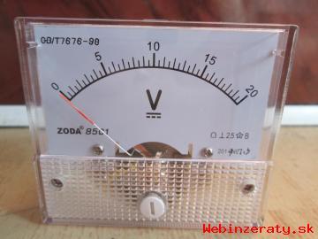 rucickovy voltmeter do 20 V