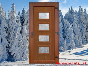 Plastové vchodové dvere do domu