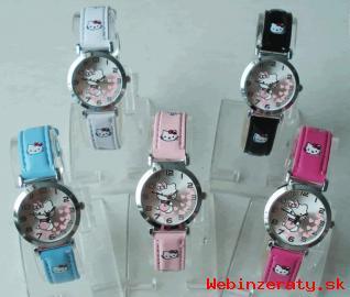 Hello Kitty farebné detské hodinky.