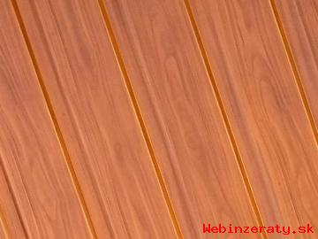 Poplastovaný trapézový plech Zlatý dub